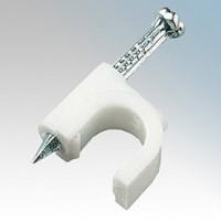 White Round Cable Clip